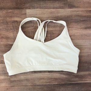Athleta white Sports Bra XL
